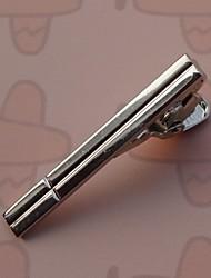 3,7 centímetros do vintage dos homens Clipes laço (prata) (1pc)