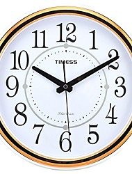 "Timess™ 11""H  Circles Rose Gold Plating Super Mute Wall Clock"