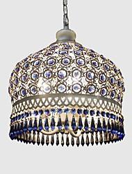Pendant Lights Blue Crystal Hand-Woven Bohemia Mediterranean Style