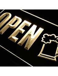 cerveza abierta taza taza Brew Pub signo luz de neón en casa