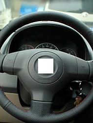 Xuji ™ Preto Couro cobertura de volante para Suzuki SX4 Velho Swift Suzuki Alto