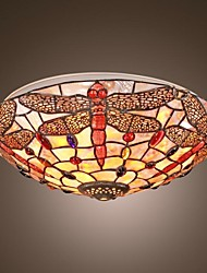 Dragonfly Mini Ceiling Lamp 3 Lights Tiffany Style Shell Lamp