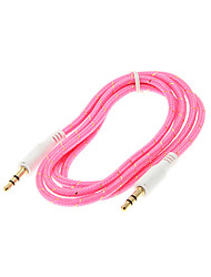 1M 3.3FT Woven Fabric Braided Auxiliary Aux Audio Cable 3.5mm Jack Male to Male Cord