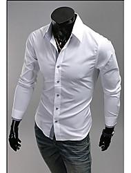 Ruhm Hemd Kragen Langarm Ausgestattet Casual Shirt