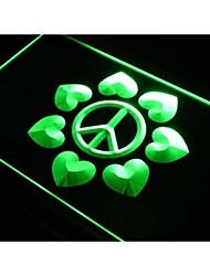 j981 Peace & Love Display Home Decor LED Light Sign