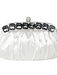 Silk Wedding / Special Occasion Clutches / Evening Handbags with Acrylic Jewelry (More Colors)