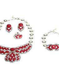 z&X® lussureggiante diamantato con set di gioielli gemstone gioiello lega d'oro (più colore)