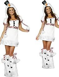 Traje de Halloween das Snowwoman pele branca Mulheres