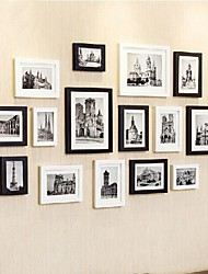 Black White Photo Frame Collection Set di 15
