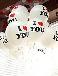 100PCS 30 centimetri 12'' Big Pearl Lattice Balloon Mentre a colori Natale festa di nozze I LOVE YOU parole Propos