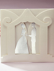 Convites de casamento Cartões de convite Dobra-Portão Não personalizado 50 Peça/Conjunto