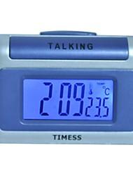 Timess™  LED Digital Talking Thermometer Alarm Clock