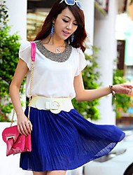 Women's Beaded Shirt , Chiffon Short Sleeve