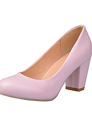 Women's Fashion Chunky Heel Round Toe Pumps Shoes (More Colors)