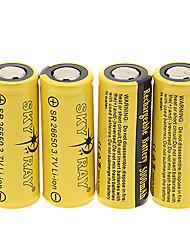 Skyray SR 26650 5000mAh da bateria com proteção de sobrecarga (4 peças)