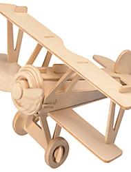Quebra-cabeça Conselho 3D montados blocos de madeira Barão Triplane Brinquedos Cor Primária