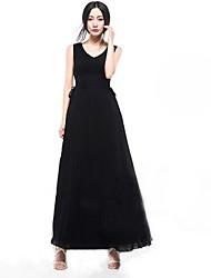 AISNI Frauen New Spring Seidenkleid mit V-Ausschnitt Weste