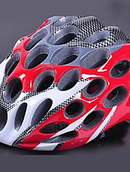 41 aberturas de ciclismo vermelho eps capacete integralmente moldadas