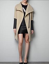 Carmell ™ Женская нагрудные шерстяное пальто