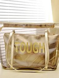 L&L Ell Crystal Transparent Shoulder Bag (Gold)