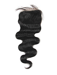 Haute Qualité cheveux brésilien dentelle Fermeture Carrosserie vague 14inch En stock