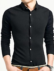 Herren Fashion Casual High-Quality Langarm-Shirt