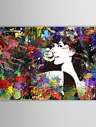 Hand Painted Oil Painting People  Girls in The Wild Savage Beauty with Stretched Frame