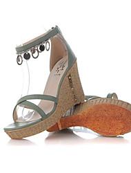 Vinda Women's Shoes Green Wedge Heel 6-9cm Sandals