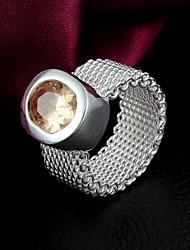 Wedding Gift  White Gold Plated Zircon  Ring