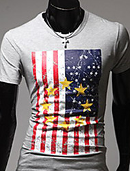 Casual Camiseta impressão de Sameul Homens