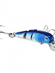6.5CM 6G нескольких Объединенная 3 Разделы Синий Bass Fishing Приманка