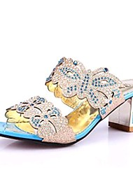 Sunfarey Women's Vintage Rivet Bow Diamonade Platform Sandals