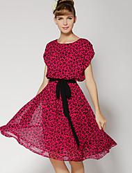 vestido floral print patinador lazo de los sofiya mujeres
