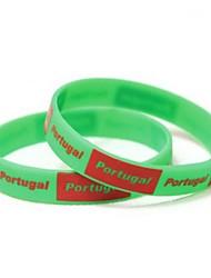 Portugal Bandeira Padrão Copa 2014 Silicone Faixa Para Punho