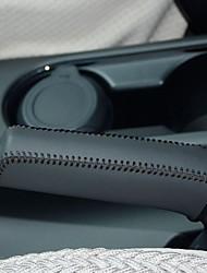Xuji ™ di cuoio nero genuino freno a mano della copertura per Kia K3 2013