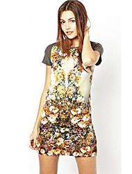 J & N Frauen Chiffon-Blumendruck New Style Dress