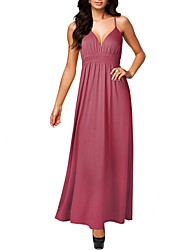 MOL senhoras elegantes formais Elasticidade Maxi vestidos longos