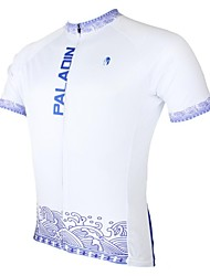 ILPALADINO Homme Manches courtes Vélo Maillot Hauts/Tops Séchage rapide Résistant aux ultraviolets Respirable Térylène Printemps EtéSport