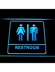 Unisex Men Women Male Female Restroom Toilet Washroom Neon Light Sign