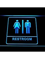 homens unisex mulheres homens e mulheres toilet sinal de luz neon banheiro