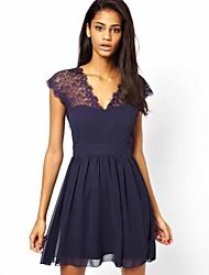 sexy rendas mini vestido fino feminino