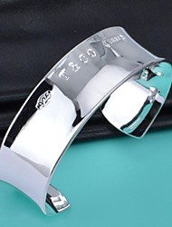 lureme®925 plata esterlina chapada de constracted forma pulsera c