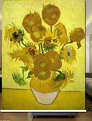 Land Blühende Sonnenblumen Rollo