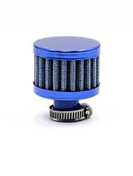 TIROLO universale affusolata rotonda Auto Mini aria fredda di aspirazione 12 millimetri auto Filtri aria blu