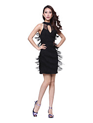 Performance Sexy Chinlon With Tassels Latin Dance Dress for Ladies (More Colors)