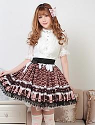 Pretty chocolate Lolita Leche Princesa Kawaii Falda encantadora Cosplay