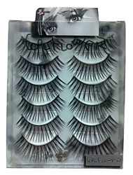 6 pairscoolflower false eyelashes 022#