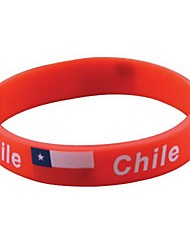 Chile Flag Pattern 2014 World Cup Silicone Wrist Band