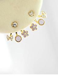 Earring Flower Stud Earrings Jewelry Women Wedding / Party / Daily / Casual Alloy