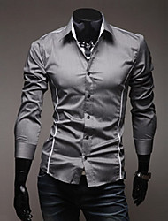 Magro Camisa Casual Masculina Sameul